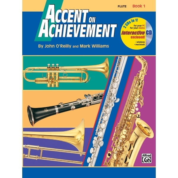 Alfred Publishing - John O'Reilly / Mark Williams - Accent on Achievement Flute Book 1
