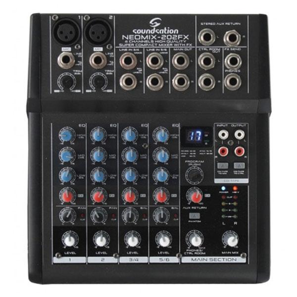 Soundsation - [Neomix 202FX] Mixer 6 canali con effetti
