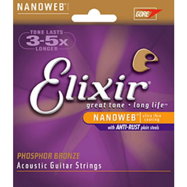 Elixir - [16102] Corde x chitarra -Acoustic Phosphor Bronze Medium