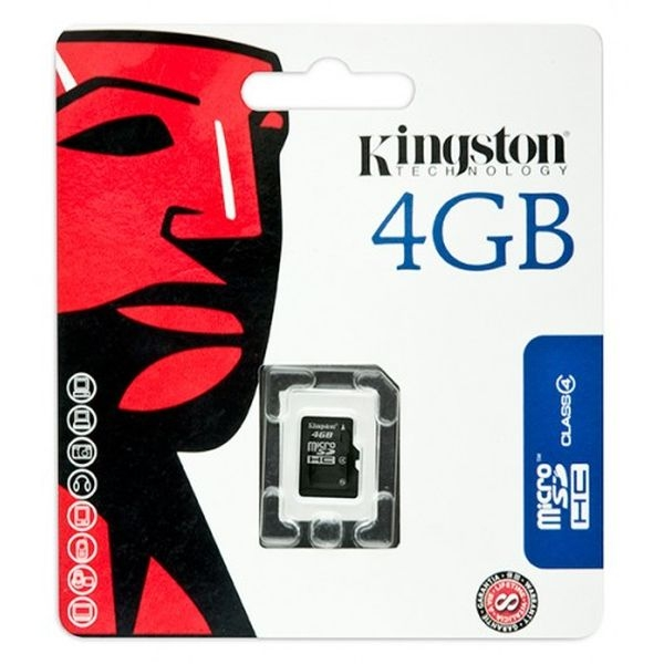 Kingston - SCHEDA DI MEMORIA MICRO SDHC 4GB