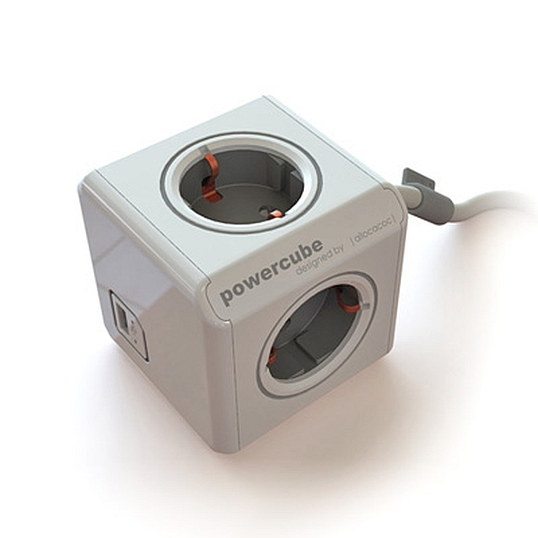 Allocacoc - Presa Multipla Power Cube Extended Usb