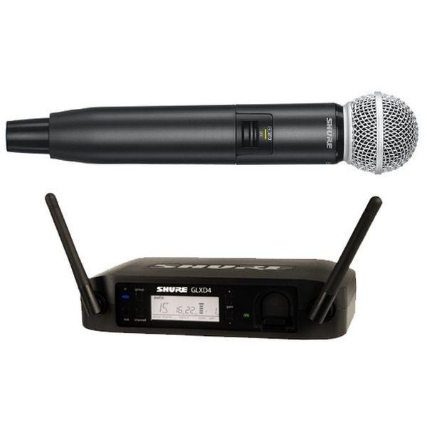 Shure - [GLXD24E/SM58] Radiomicrofono Serie SM Wireless