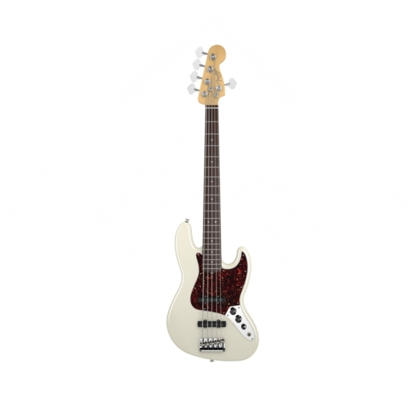 Fender - American Standard - [0193750705] Jazz Bass V Strings / RW - Olympic White