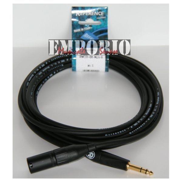 Reference - [RMC01-BK-MJS-5] Cavo x microfono XLRM / JS  - 5 Mt