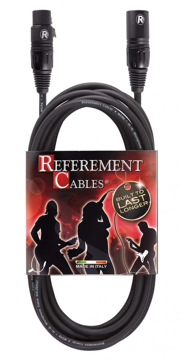 Reference - Referement - MCR5 - Cavo Microfonico Bilanciato -  XLR M / XLR F PROLITE - 3m