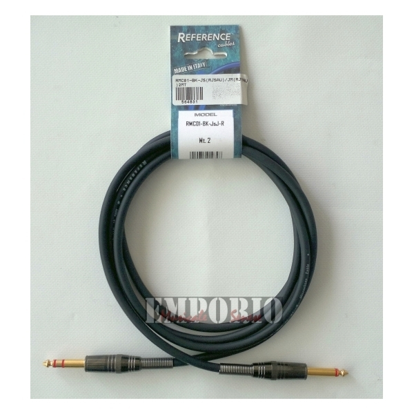 Reference - [RMC01-BK-JsJ-R] Cavo x Microfono - 2X Jack 6,3 mm