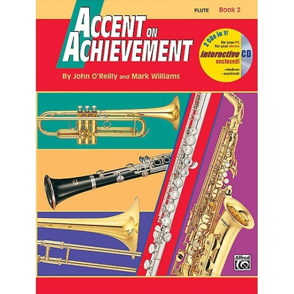 Alfred Publishing - John O'Reilly / Mark Williams - Accent on Achievement Flute Book 2