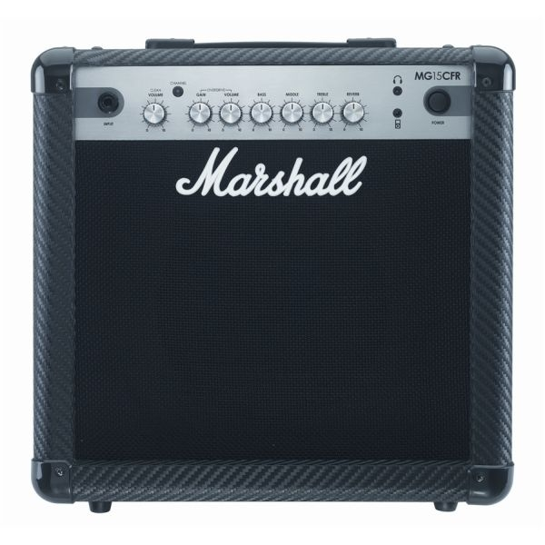 Marshall - MG Carbon Fibre - [MG15CFR] Combo x Chitarra (Riverbero analogico) - 15 Watt