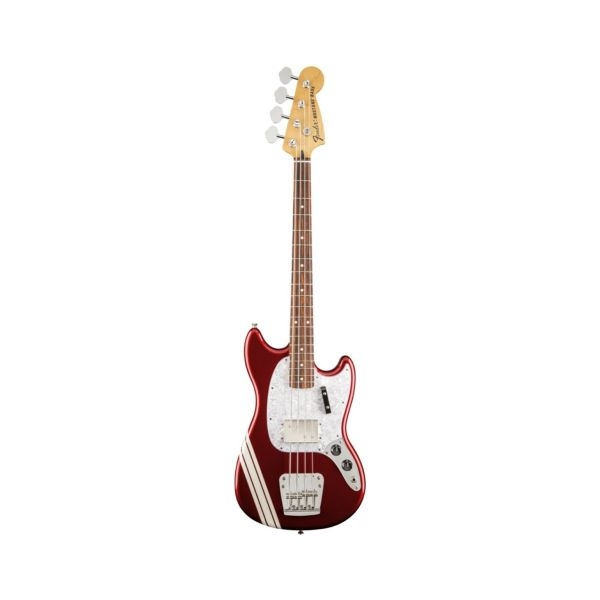 Fender - Pawn Shop - [0143900309] MUSTANG Bass - Candy Apple Red Stripes - RW