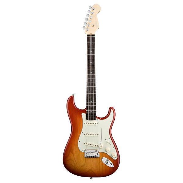 Fender - American Deluxe - [0119300731] STRAT ASH - Aged Cherry Burst - Rw