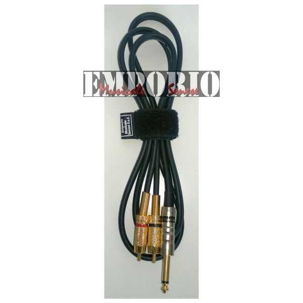Proel - Cavo Audio 1X6,3MN + 2XRCA M. - 5 MT.