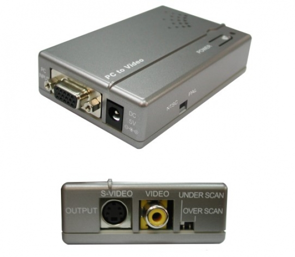 Thender - [CPT-385AM] Convertitore Vga-Composito/SVHS
