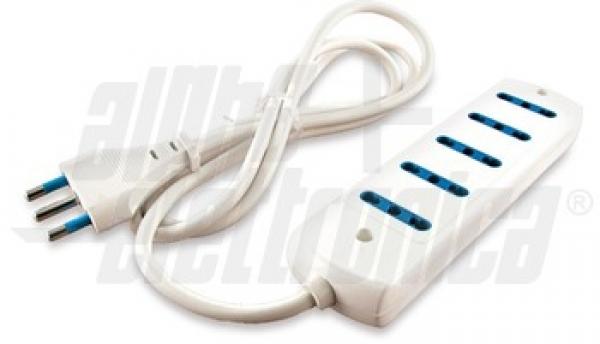Alpha Elettronica - [23-041/5] Presa Multipla 5 uscite