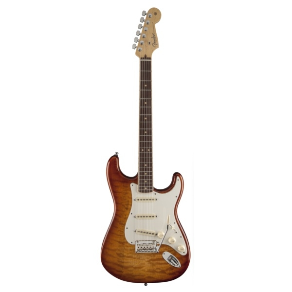 Fender - Select - [0170710871] Stratocaster Exotic Maple Quilt - RW - Ice Tea Burst
