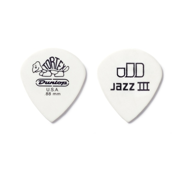 Dunlop - [478R1.14] Plettro TORTEX White Jazz III - 1,14 mm