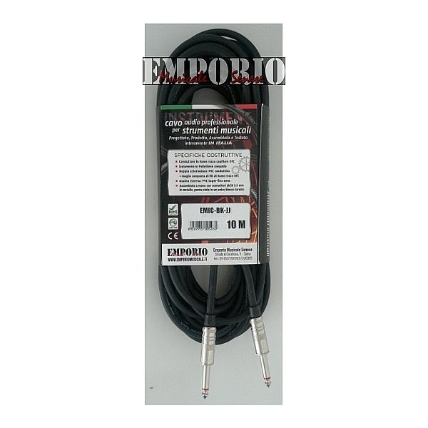 "[EMIC-BK-JJ -10M] Cavo ""EMPORIO"" Prolite Jack Mono M / Jack  Mono M - 10 Mt"