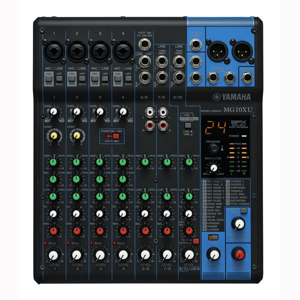 Yamaha - [MG10XU] Mixer 10 canali con effetti e USB