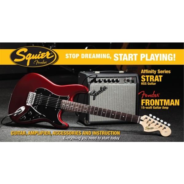 Fender - [0301614632-SQ.AF.STR.PCK-HSS] STRATO HSS con AMP FENDER FRONTMAN 15G