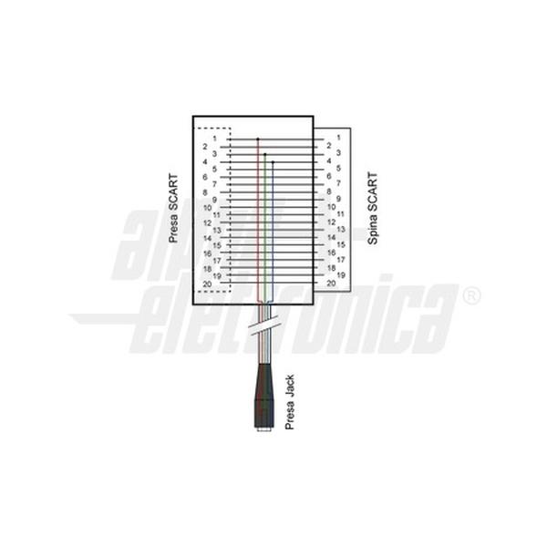 alpha elettronica  1  adattatore da presa scart a