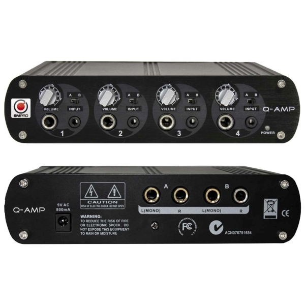 "SM Pro Audio - [2082] ""Q-AMP"" - Amplificatore x cuffie - 4 canali"
