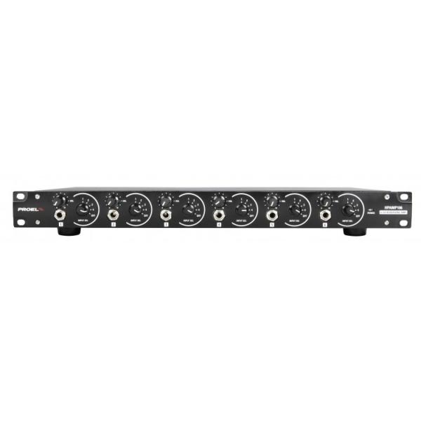 Proel - [HPAMP106] Amplificatore x Cuffie - 6 canali