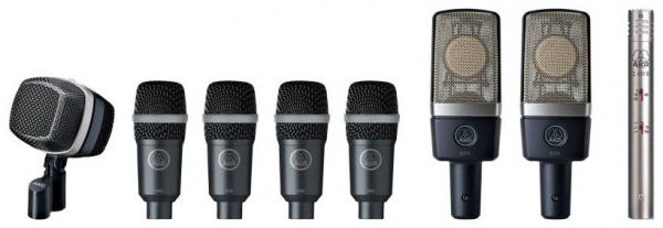 Akg - DRUM SET PREMIUM - Set microfoni professionale x batteria