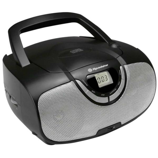 Roadstar - [CDR4550U] Radio portatile CD/MP3-USB-AM/FM - Nero