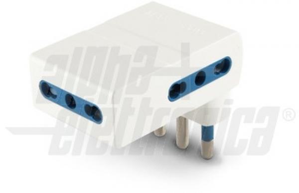Alpha Elettronica - [23-51/1BA] Adattatore Piatto da spina 16A