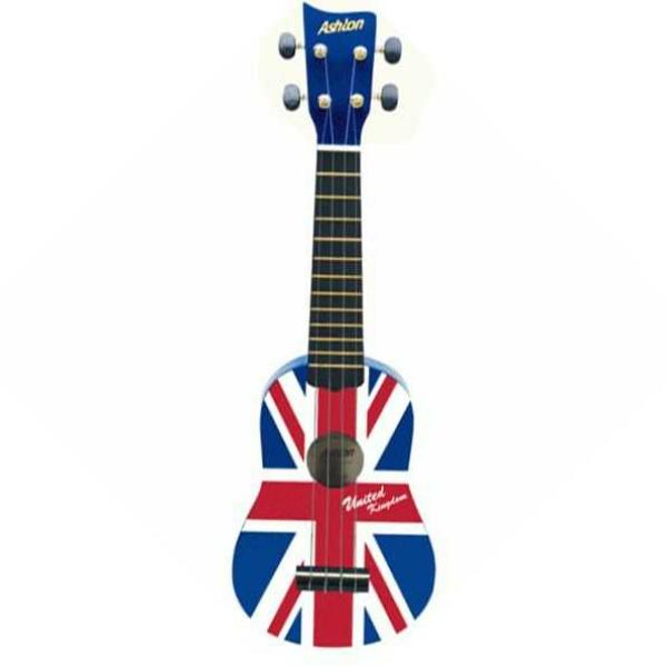 """Ashton - [UKE100UJ] Ukulele """"Union Jack"""" con borsa."""