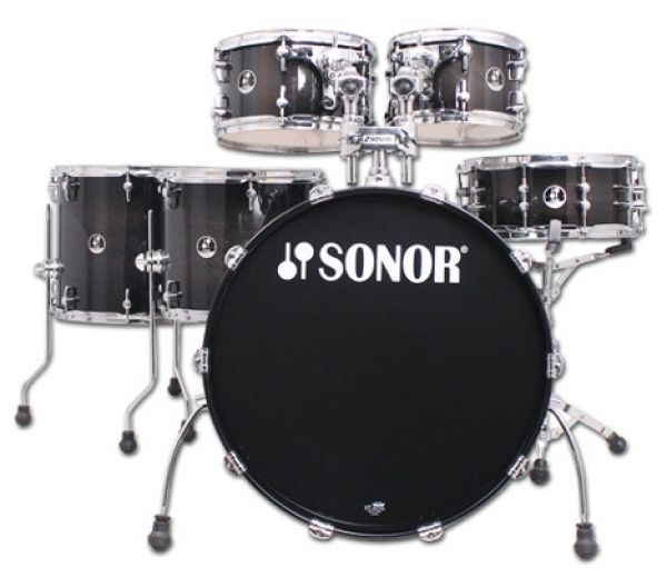 Sonor - [SSE 13] Sonor Hybrid X Transparent Black Burst