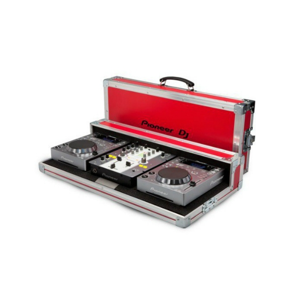 Pioneer - [PRO-350-FLT-R] Flight case x deck + mixer - Rosso