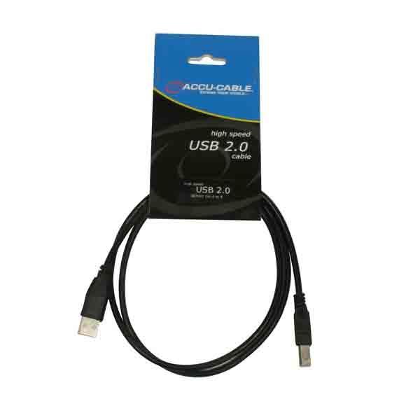 Accu-Cable - [AC-USB-AB/1] Cavo USB 1 Mt.  A/B-2.0