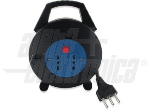 Alpha Elettronica - [23-040/5] Spina Avvolgibile 16A Prese Bipasso 5m 3X1,5Bulk