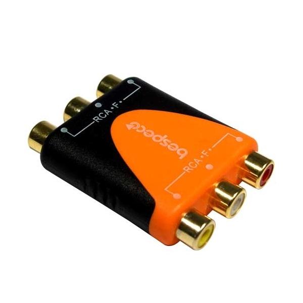 Bespeco - Silos - [SLAD345] Adattatore 3 x RCA F >3 x RCA F