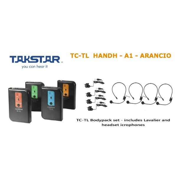 Takstar - [TC-TD HANDH] A1 Trasmettitore Wireless ARANCIO - 211,70 MHZ