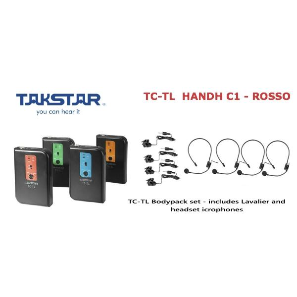 Takstar - [TC-TL HANDH] C1 Trasmettitore Wireless ROSSO -186.60 MHZ