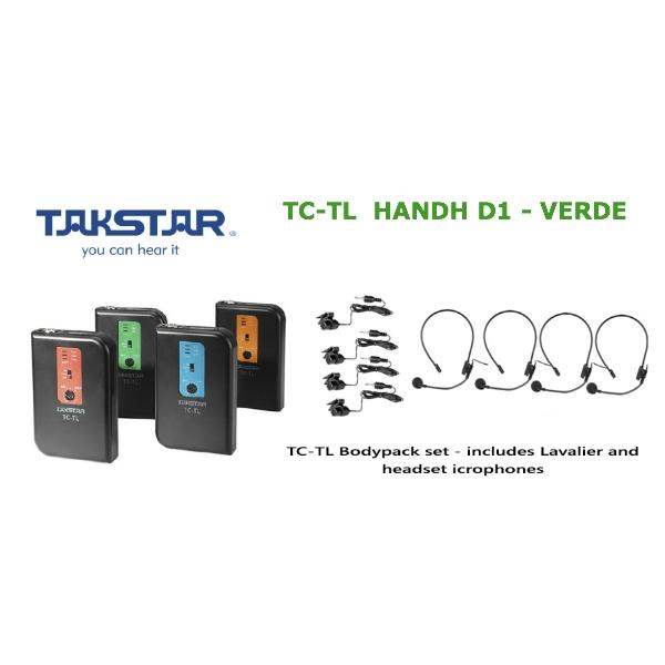 Takstar - [TC-TL HANDH] D1 Trasmettitore Wireless VERDE - 209.60 MHZ