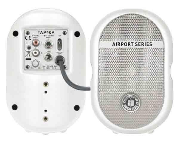 """Topp Pro - Airport - [TAP40A WHITE] Diffusore attivo 4"""" a 2 vie 40W"""