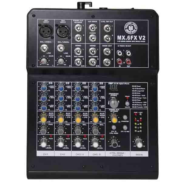 Topp Pro - [MX.6FX V2] Mixer 6 canali con effetti