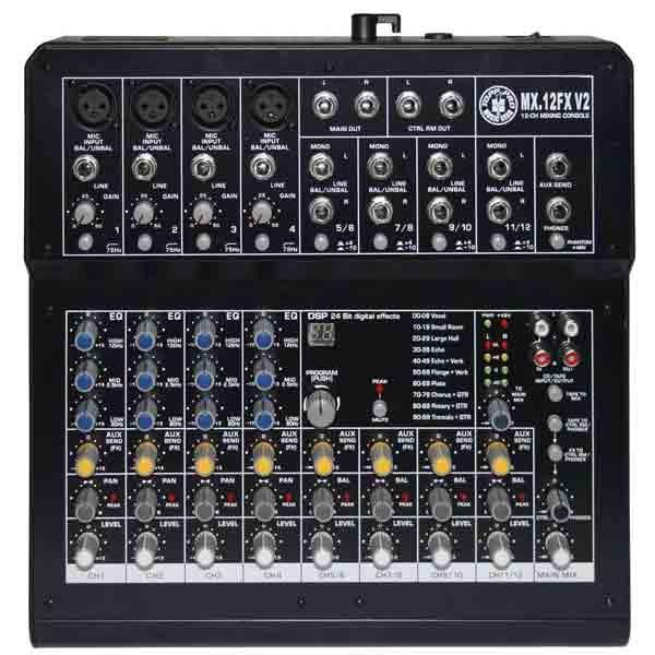 Topp Pro - [MX.12FX V2] Mixer 12 canali con effetti