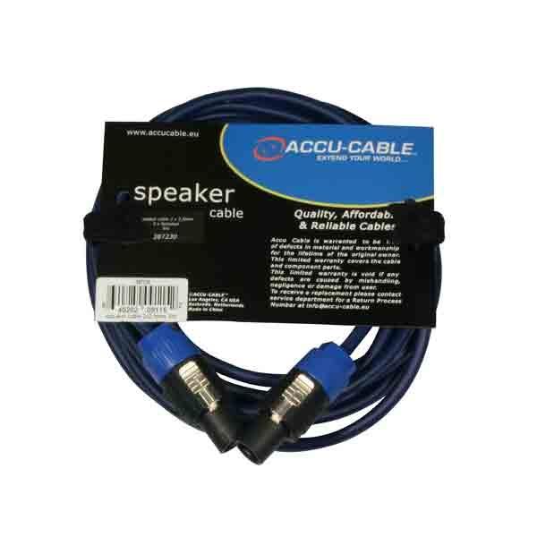 Accu-Cable - [AC-SP2-2,5/5] Cavo per diffusore speakon-speakon 5 mt.