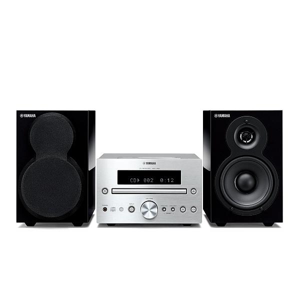 Yamaha - [MCR-232 Silver + Black] Sistema Micro HiFi con compatibilità iPad