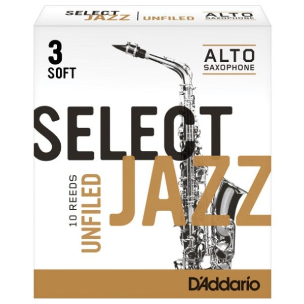 Rico - Select Jazz - [RRS10ASX3S] Ancia Sax Alto Unfiled 3S - 10 pezzi
