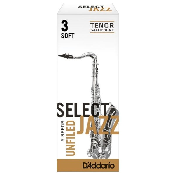 Rico - Select Jazz - [RRS05TSX3S] Ancia Sax Tenore Unfiled 3S - 5 pezzi