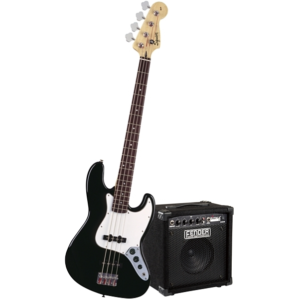 Fender - Squier Stop Dreaming, Start Playing! Set - [0301670606] Affinity J Bass Black con Amplificatore Rumble 15