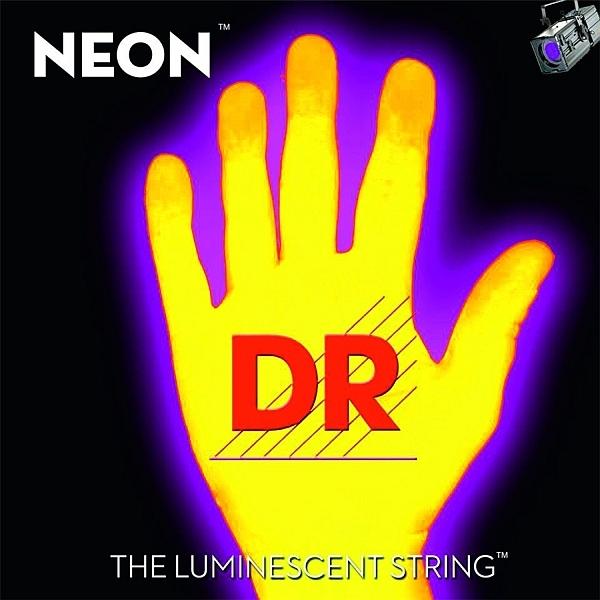 Dr Strings - Neon - [NYE-10] Corde luminescenti per Chitarra Gialle .010-.046