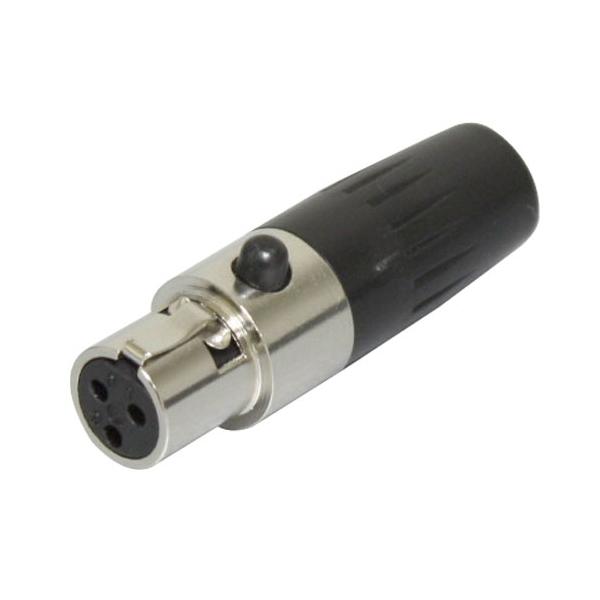 Bespeco - [XLR3FXS] Connettore Mini Cannon Femmina Volante 3 Poli