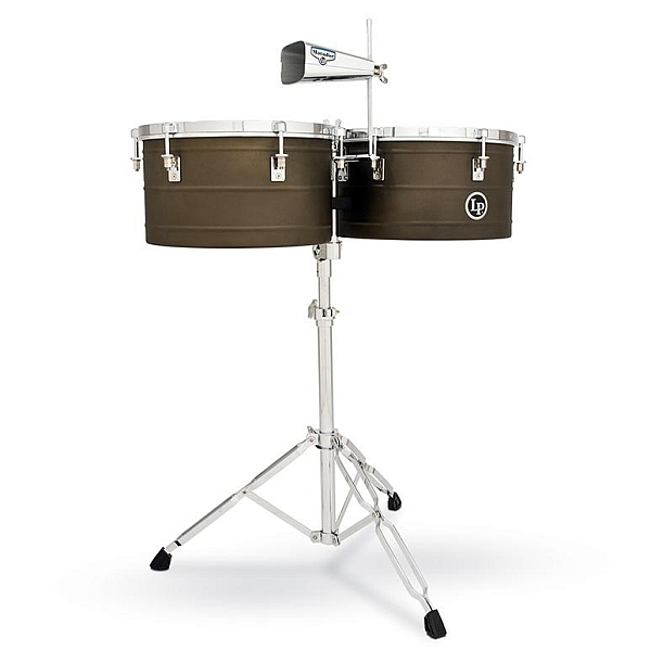 "Lp Latin Percussion - Matador - [M258] 14"" e 15"" Barrio Deep Shell Timbales, Antique Finish"