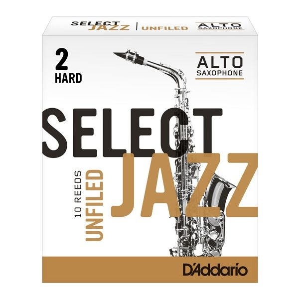 Rico - Select Jazz - [RRS10ASX2H] Ancia Sax Alto Unfiled 2H - 10 pezzi
