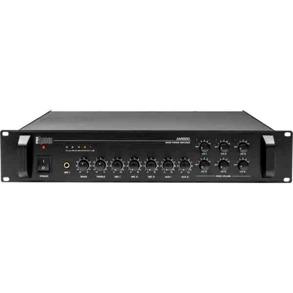 ProAudio - [AM6120] Amplificatore/mixer 120W 4/8/16OHM 70/100 V